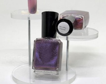Berry Mire Thermal Indie Nail Polish Purple to Dusty Maroon