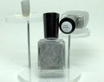 I Am A Rockstar Micro Glitter Indie Nail Polish Silver Holographic