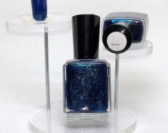 Khione Indie Nail Polish Blue with Green Shimmer