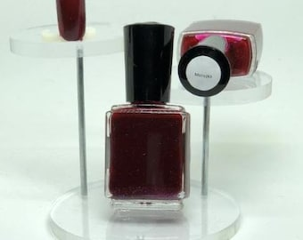 Morozko Inie Nail Polish Red with Blue Shimmer from Winter Gods Collection