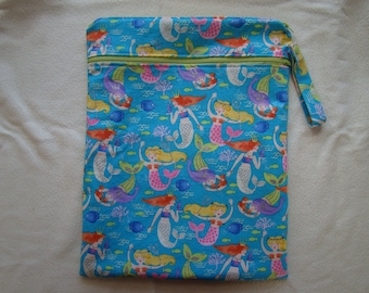 Made to Order: Wet Bag, you choose the style and size, Sea Beauty print.