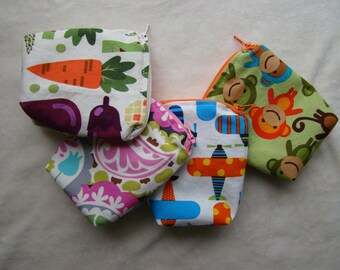 "Made to Order: Set of 2 Mini Snack Bags, 4""X4"" with gusset."