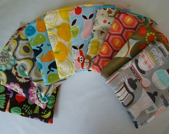 Clearance Fabric Snack Bags, Set of 2 with zipper.