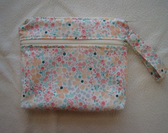 Made to Order: Wet Bag, you choose the style and size, Mini Rose print.