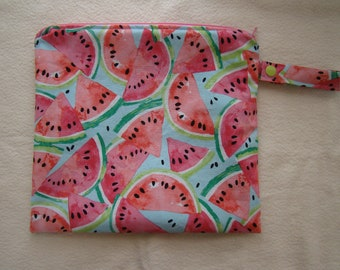 Made to Order: Wet Bag, you choose the style and size, Watermelon print.