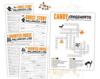 kids halloween party kit fun halloween games halloween mad libs crosswords halloween school party kids tweens teens h103