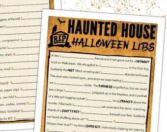 Halloween Mad Libs ADULT Halloween Game - Halloween Party Game - TEEN Halloween Game - Halloween Printable - Halloween Classroom Game #H109