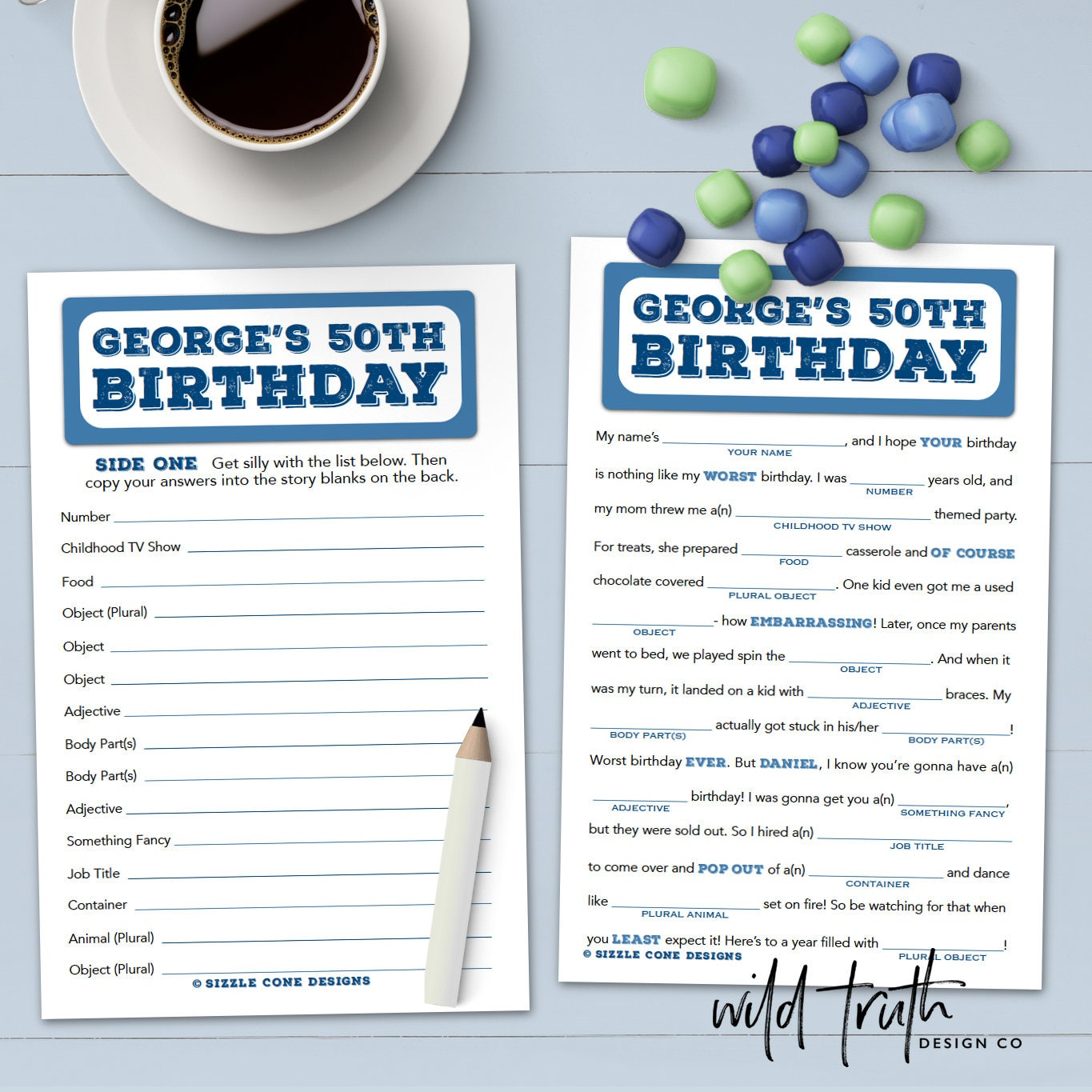 Birthday Mad Lib For Adults Personalized Party Game | Etsy