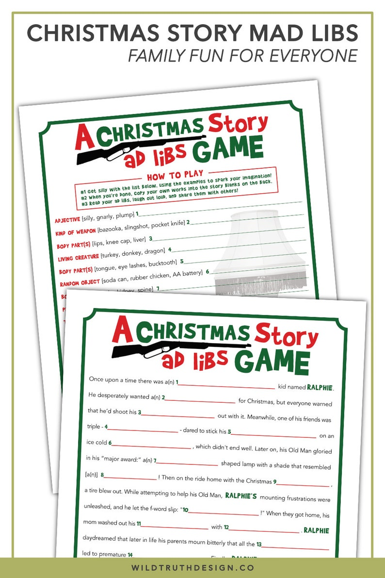graphic about Thanksgiving Mad Libs Printable referred to as A Xmas Tale Bash Recreation - Xmas Nuts Libs - Printable Grownup Xmas Activity [C101]