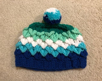 Gay Male/ Androphilic/ MLM Pride Hat in Dragon Scale Stitch