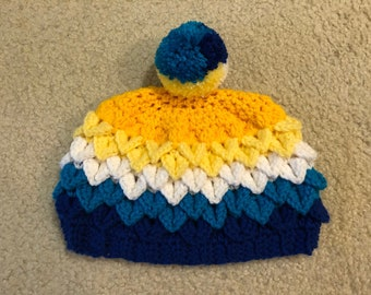 AroAce (Aromantic Asexual) Pride Hat in Dragon Scale Stitch
