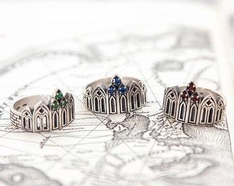 Castle ring   Gothic ring   Gamestone ring