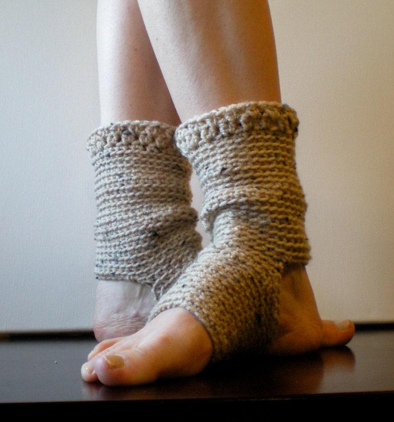 PATTERN:  Yoga Socks Dance Pilates Ballet Leg Warmers image 0
