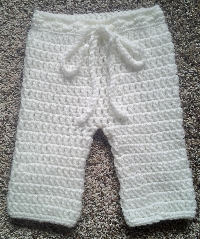 Pattern Baby Trousers Easy Crochet Pdf 4 Sizes Nb 12m Etsy