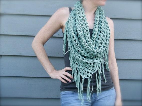 Diy Crochet Pattern Summer Scarf Triangle Scarf Bandana Etsy
