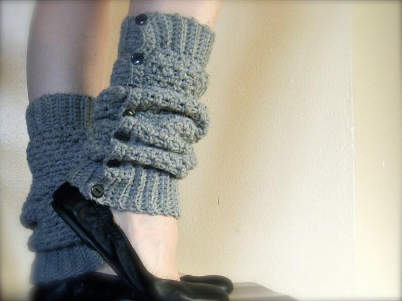 DIY Crochet Pattern:  Cambridge Warmers fashion leg warmers image 0