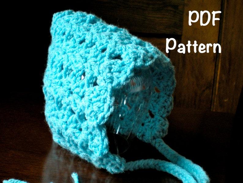 PATTERN:  Seashell Pixie Bonnet 3 SIZES baby gnome hat image 0