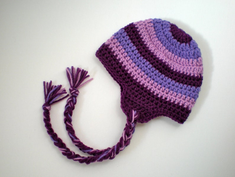 919fcd2abd5 Pattern striped earflap hat easy crochet sizes newborn to etsy jpg 794x596  Easy crochet earflap hat