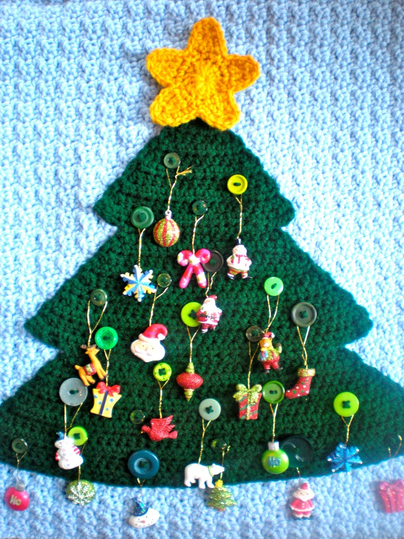PATTERN: Advent Calendar modern holiday decor button tree image 0