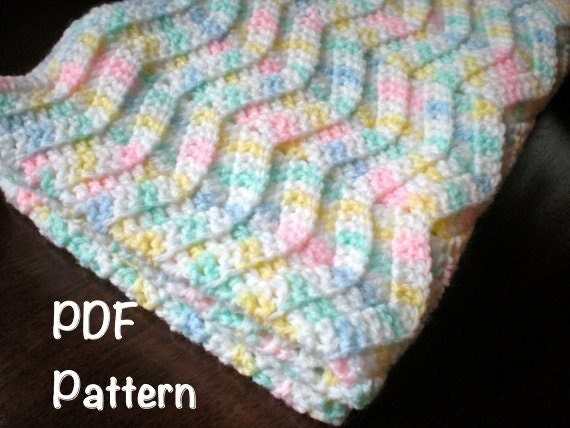 Pattern Chevron Baby Afghan Shower Gift Carseat Size Etsy
