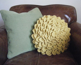 DIY Crochet Pattern:  flower pillow, round pillow cover, shabby chic home decor, easy crochet InStAnT DoWnLoAd, Permission to Sell