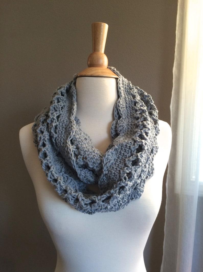 DIY Crochet Pattern:  Spring Cowl scarf light weight image 0