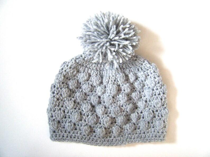 PATTERN: Bobble Beanie Easy crochet hat pattern PDF 7 image 0