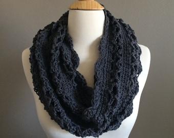 DIY Crochet Pattern:  Spring Cowl, scarf, light weight scalloped edge lightweight open weave, easy crochet, InStAnT DoWnLoAd