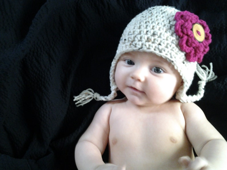 PATTERN: Earflap Hat Easy Crochet Sizes Newborn to Adult image 0