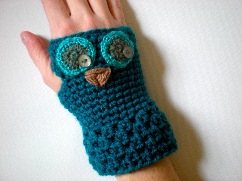 5740250e085113 PATTERN  Owl Gloves Toddler Kid Adult Sizes easy crochet