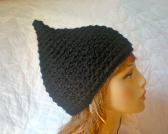 PATTERN:  Pixie hat, gnome elf pointed hat, easy crochet PDF email, Size Teen/Adult, InStAnT DoWnLoAd, Permission to Sell