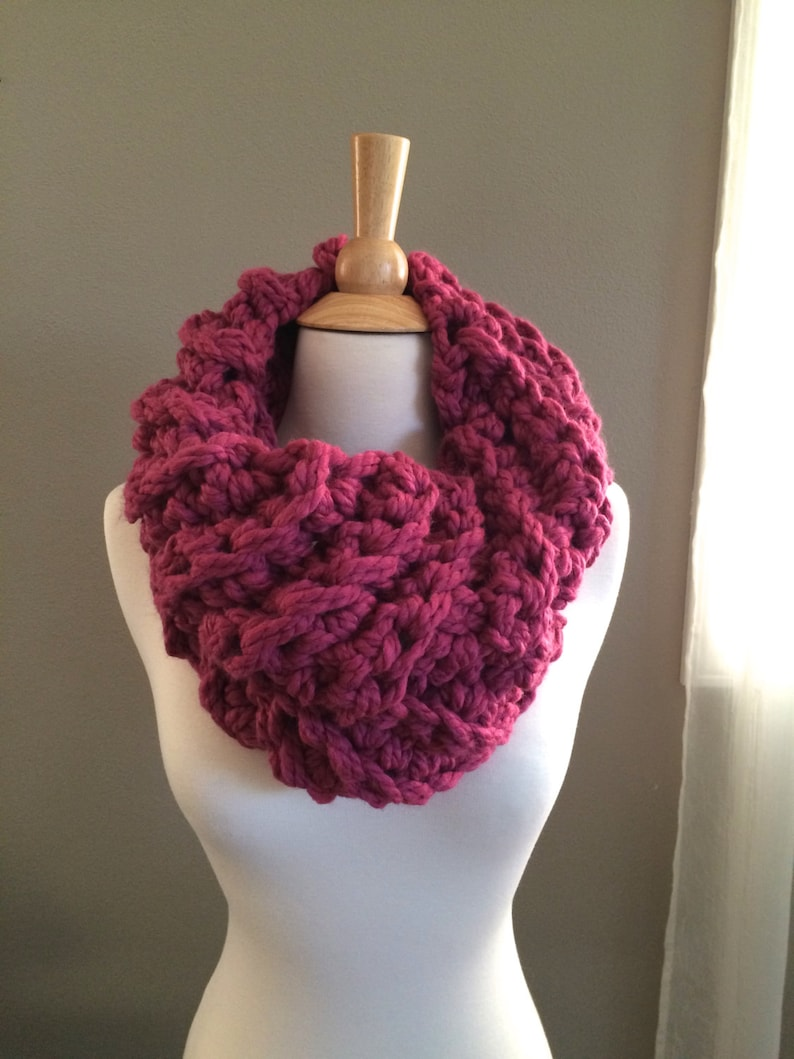 DIY Crochet Pattern: Cece's Cowl Super Bulky Cowl easy image 0
