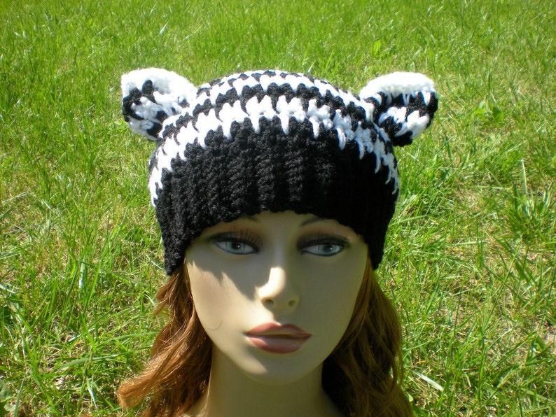 PATTERN: Houndstooth Hat easy crochet PDF size newborn to ...