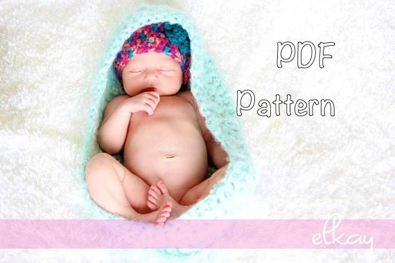 Pattern Cocoon Easy Crochet P D F Newborn Fuzzy Baby Wrap Etsy