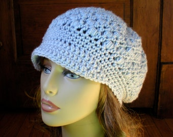 PATTERN:  Robyn Hat-  Slouchy adult newsboy, textured slouch beanie, crochet hat P D F, InStanT DowNLoaD, easy crochet, Permission to Sell