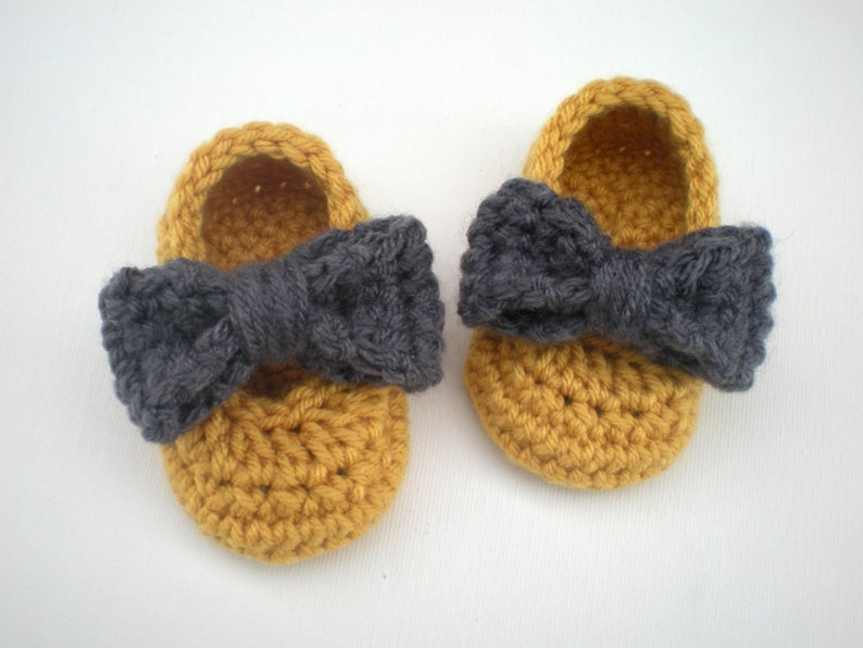 PATTERN: Sadie Slippers Easy Crochet P D F baby girl shoes image 0