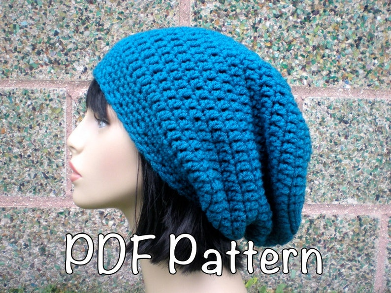 PATTERN  Autumn Slouch Unisex slouchy beanie hat P D F  45a081aec95