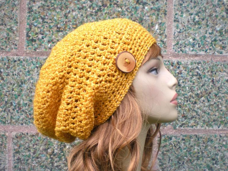 PATTERN:  Autumn Slouch  Unisex slouchy beanie crochet hat P image 0