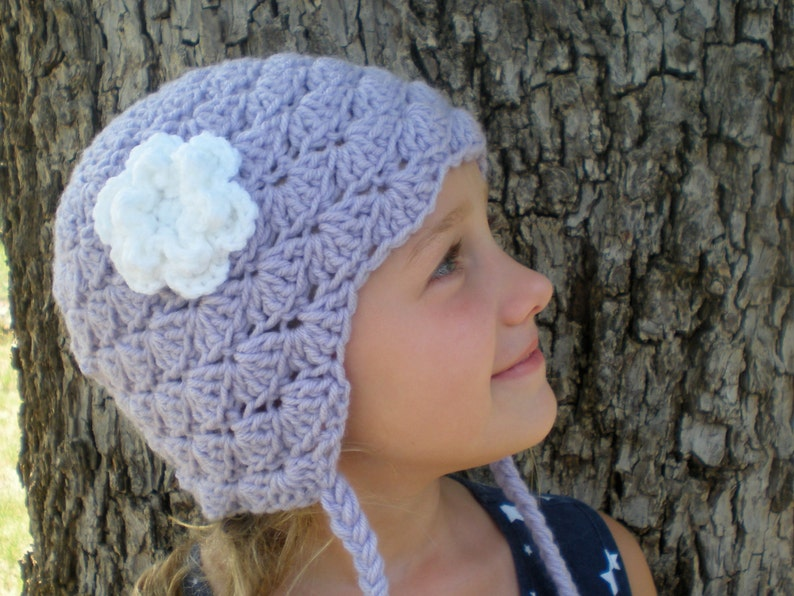 PATTERN:  Stellabel Hat Easy Crochet PDF 3 Sizes tassels image 0