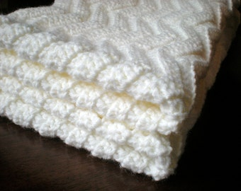 PATTERN: Chevron Baby Afghan, shower gift, carseat size, rippled chevron stripes, Easy Crochet P D F, InStanT DowNLOaD, PERMISSION to SELL