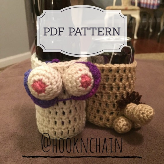 Pdf Pattern For Boob And Penis Bottle Can Holder Sleeve