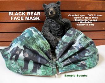 Black Bear Mask Etsy