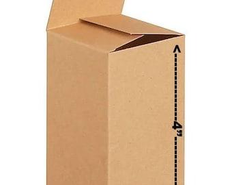 Rectangle Box Camel 10 PCs Foldable Kraft Paper Sliding Boxes