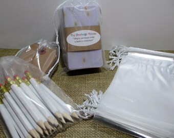 Clear Bags, Drawsting Bags, 100 Clear 4x6 Drawstring Bags, Product Bags, Soap Bags, Drawstring 2 Mil Poly Product Bags