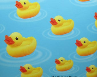 """Duck Gift Wrap, Rubber Duck Gift Wrap, Duck wrapping paper, paper table runner, 10' long x 24"""" wide"""