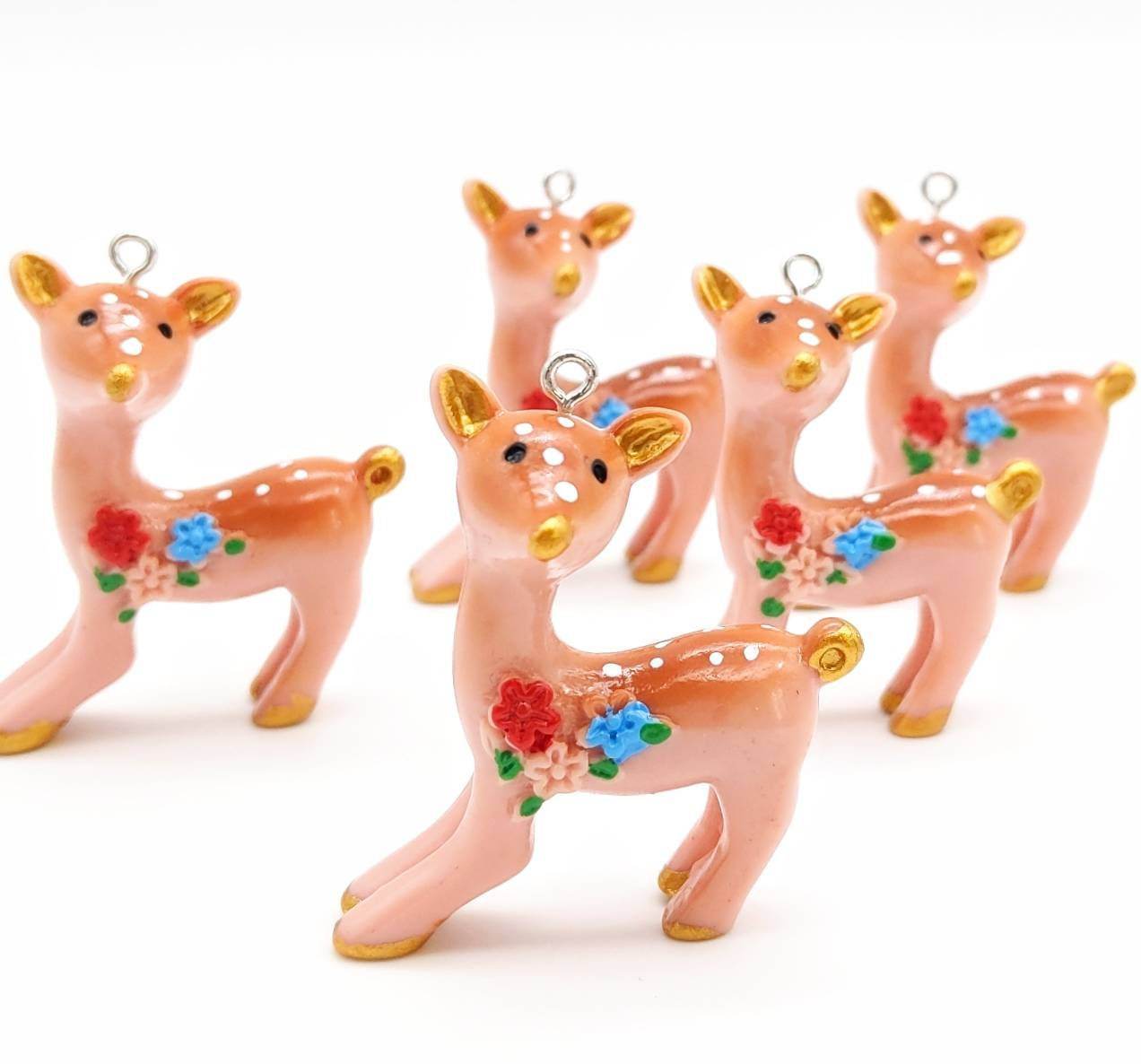 Beautiful vintage style deer charms