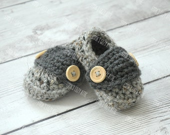 Baby boy shoes, newborn boy shoes, baby booties, infant baby shoes, baby loafers, crochet baby shoes, baby shower gift