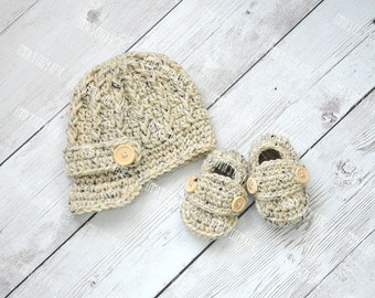 Baby Boy Hat, Baby Boy Hats, Baby Boy Hat, Crochet newborn newsboy baby boy hat, newsboy hat and loafers, baby loafers, baby shoes