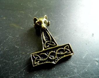 Pendant, Hammer, Thor Hammer, Large, Protection, Bronze, Germanic