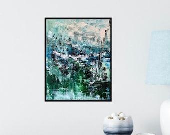 Palette Knife Painting Original / Abstract Art / Wall Decor / Handmade / 16x20 / Medium Painting / Minnesota / Vertical / Original Art /